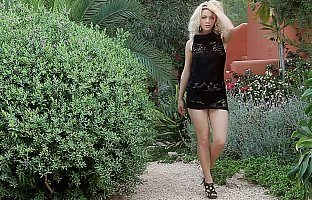 Sweet blonde teen posing